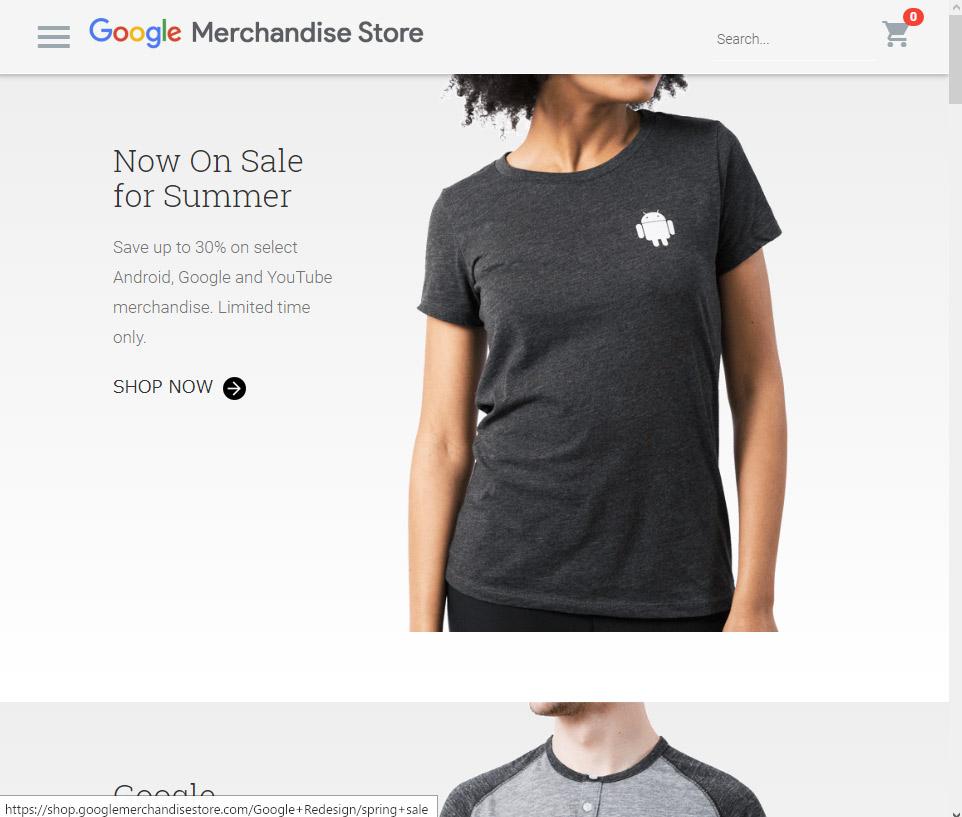 Google Merchandise Store